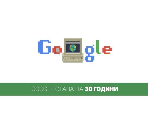 Google става на 30 години